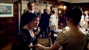 Poor Anne has to endure endless social encounters with Captain Wentworth. He gets to stand looking all hot and wounded, while she, poor thing...